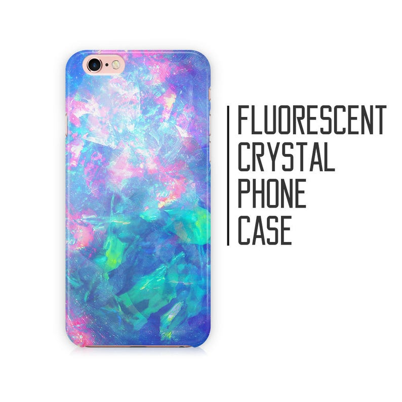 super cute f5872 aa0c3 Fluorescent Crystal Phone Case - for iPhone X XS Max XR 8 Plus 7 6 6s 5 5s  5c SE + Samsung S6 S7 S8 9+