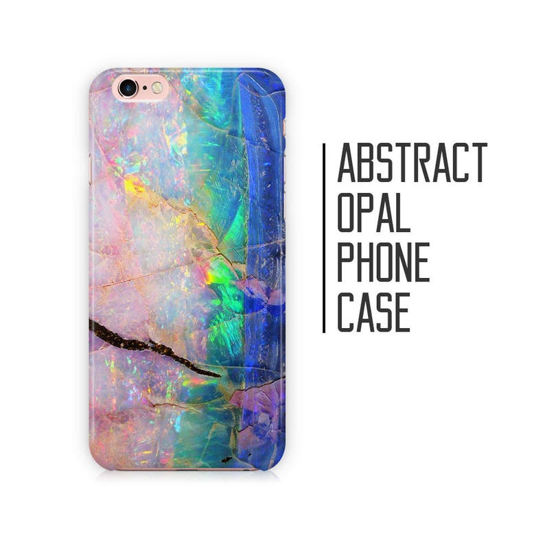 Abstract Opal Crystal Phone Case  Opal Stone for iPhone 12 image 0