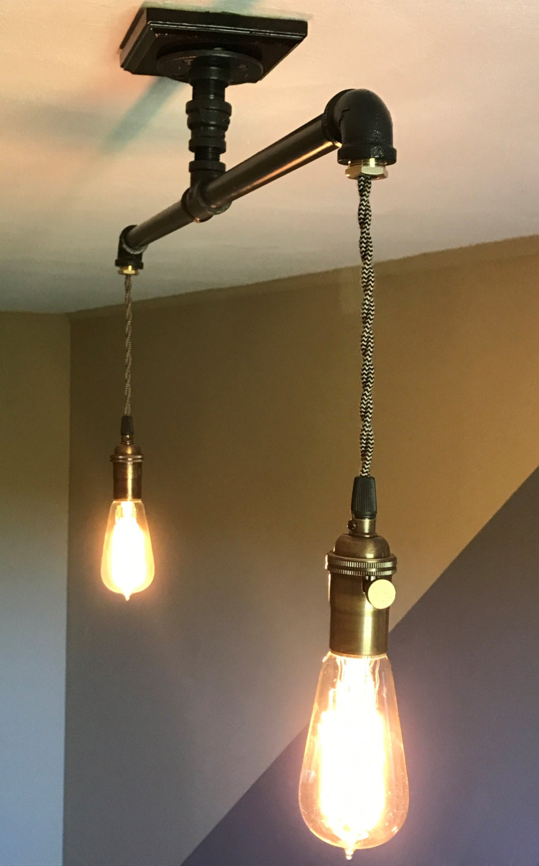 Industrie Anhänger Beleuchtung: 1/2 Öl-rieb Bronze Rohr