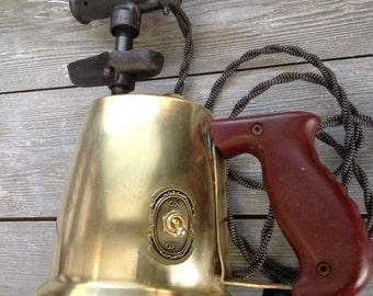 Steampunk Tool Lamp: 1952 Antique Otto Bernz, Solid Brass Blow Torch Lamp (w/ 2 different candelabra bulbs incl.)
