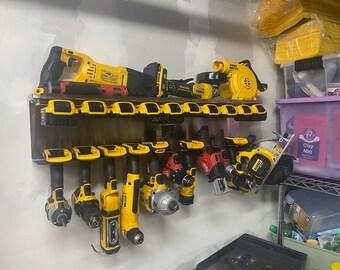 DES Ultimate Cordless Tool Storage Combo Rack - Tools, Batteries, Chargers - Organize - Milwaukee, Dewalt, Ryobi, Makita, Ridgid - Stainless