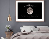 Moon photograph print wit...