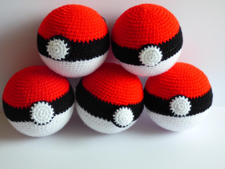 Pokeball Pokeball Crochet Pokemon Amigurumi Pokemon Crochet Toy