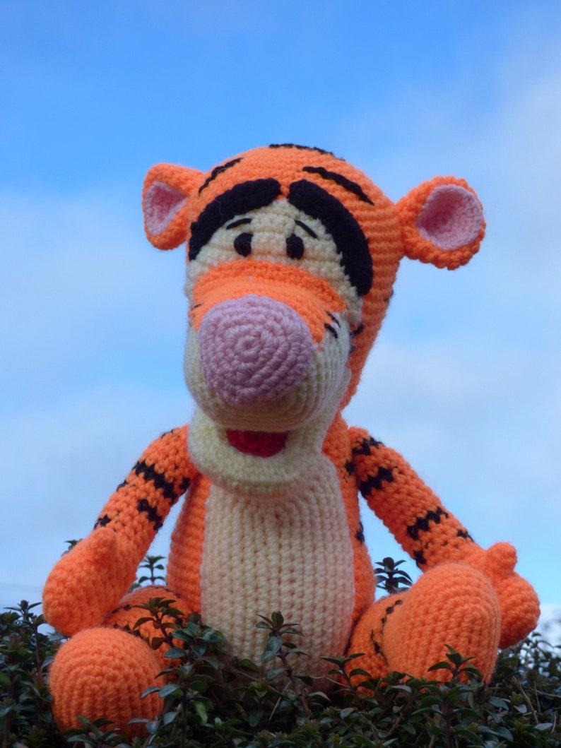 Tiger Winnie The Pooh Crochet Animal Winnie The Pooh Etsy