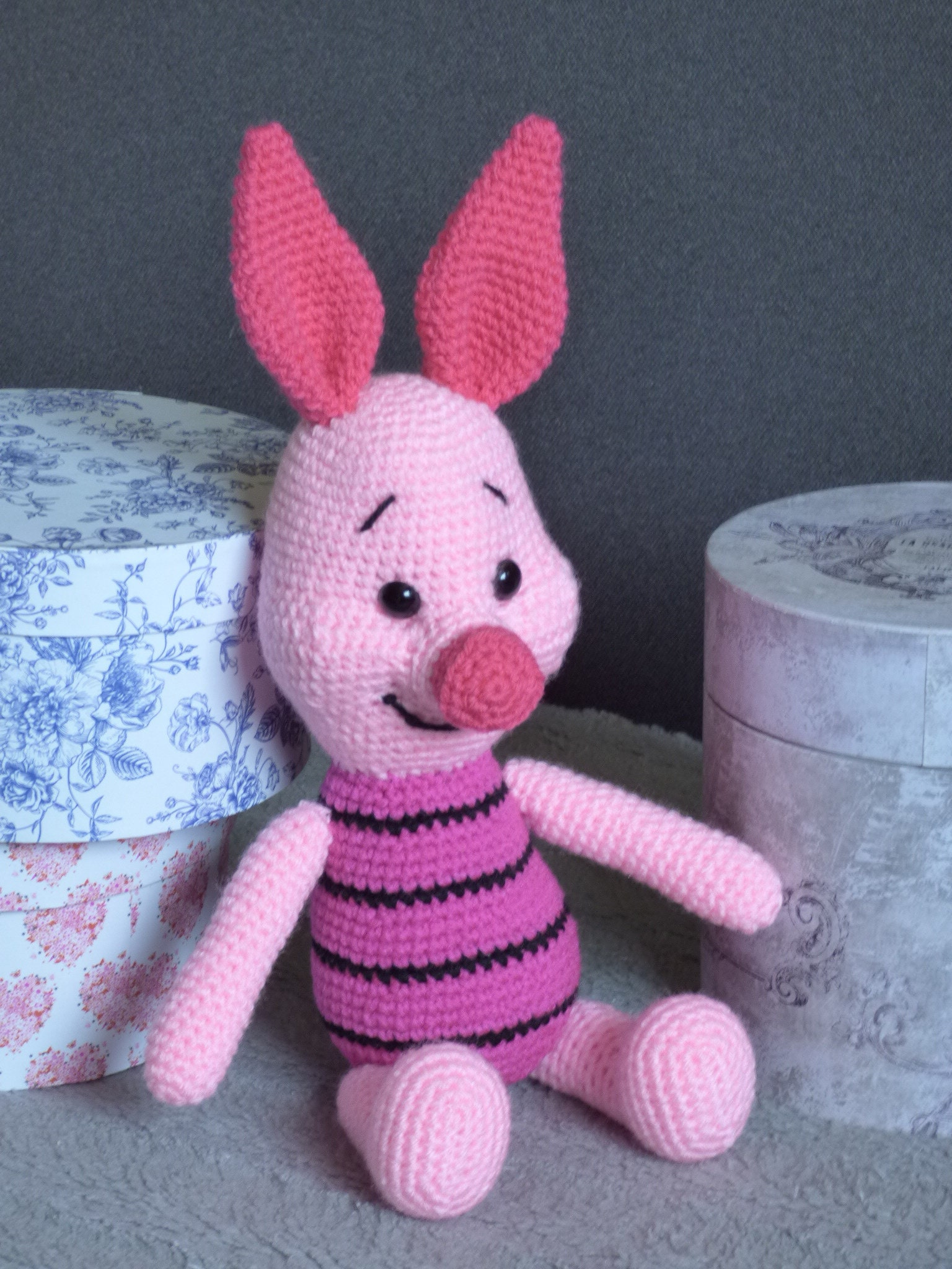 Piglet Piglet Crochet Doll Piglet Amigurumi Winnie The Pooh