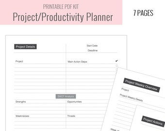project planner etsy