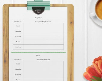 smart goals planner printable goals planner goals weight loss goals new year resolutionsfitness goalssmartgoal settinggoal worksheet