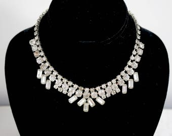 1950s Rhinestone Necklace - Multiple Shiny Shapes for Hypnotizing your pals! WOW!