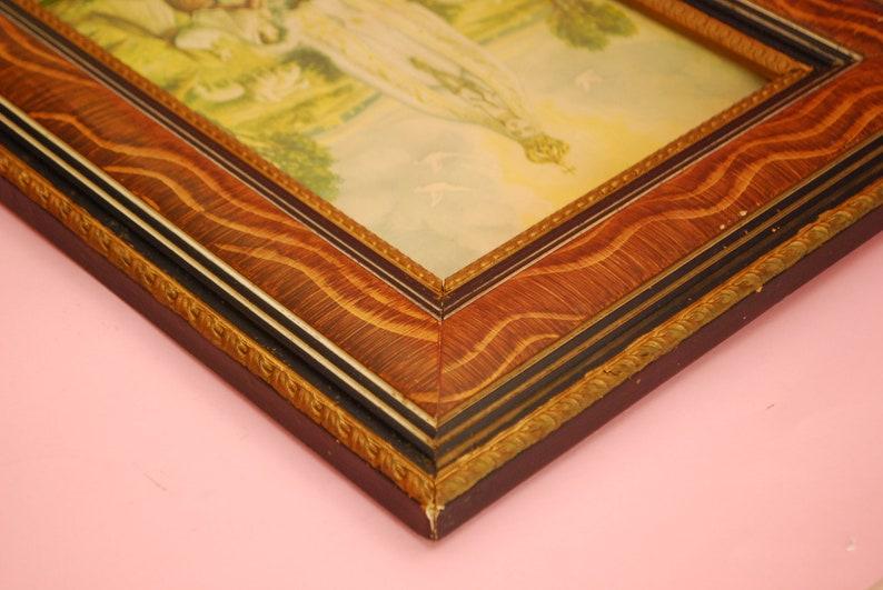 Antique wooden Picture Frame Vintage Frame Vintage picture frames Brown picture frame  Rectangular Picture Frame Vintage photo frame