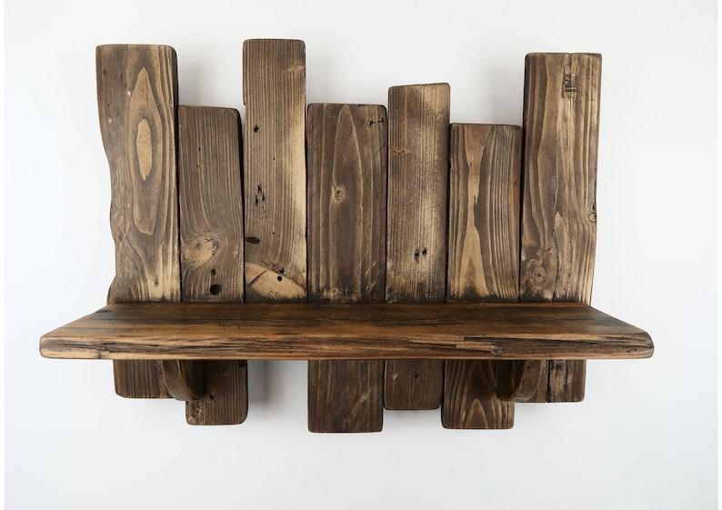 Pallet Shelf Rustic Shelf Reclaimed Wood Shelves Shabby Chic image 0