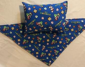 Super Mario Bros. Pattern Reptile Hammock, Pillow or Matching Set - Free Shipping