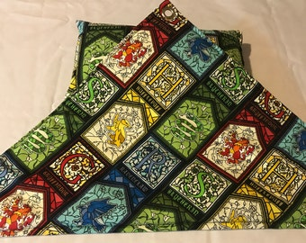 Wizard Stained Glass Pattern Reptile Hammock, Pillow with Matching Set - Free Shipping