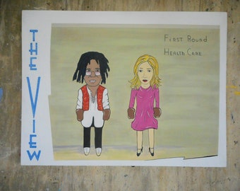 acylic painting of the View  tv program