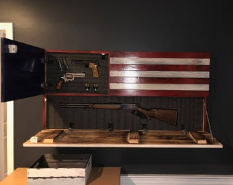 Wooden American Flag Gun Case Etsy
