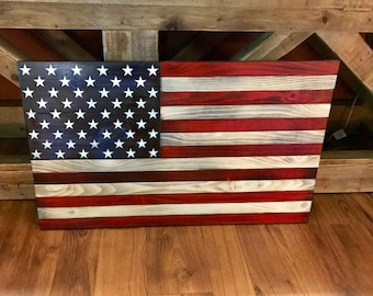 Rustic American Flag, Wooden American Flag, American Flag Wall Art, Weathered American Flag, Old Glory, Wall Flag