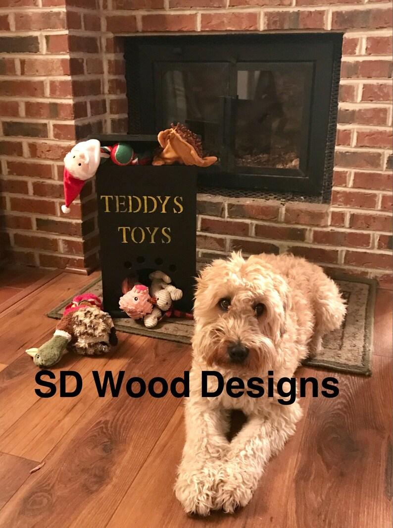 dog toy bin, toy storage, dog toys, dog toy storage bin, rustic dog toy  storage container