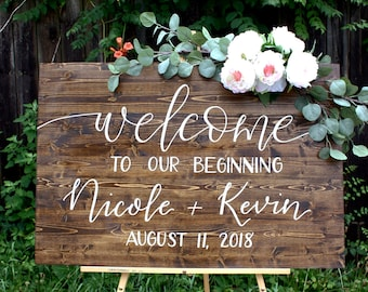 Wedding welcome sign   Etsy