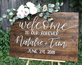 Wedding welcome sign | Etsy