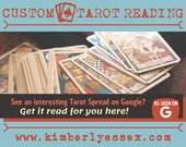 Custom Tarot Reading - Google Tarot Reading - As Seen on Google (digital file: PDF, JPG - you print)