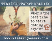 When's the best time to start dating again? Timing Tarot Reading (digital file: PDF, JPG - you print)