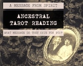 Ancestral Tarot Reading | 4-Card Ancestor Reading | Mediumship | A message from your ancestor (digital file: PDF - you print)