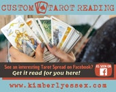 Custom Facebook Tarot Reading - As Seen on Facebook Tarot Reading (digital file: PDF, JPG - you print)
