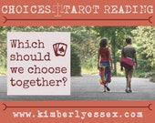 Which should we choose together? Choices Tarot Reading (digital file: PDF, JPG - you print)