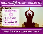 Seventh Chakra Tarot Reading | 4-Card Crown Chakra Reading | Sahasrara Chakra Reading (digital file: PDF - you print)