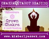 Seventh Chakra Tarot Reading | 4-Card Crown Chakra Reading | Sahasrara Chakra Reading (digital file: PDF - you print)