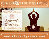 Second Chakra Tarot Reading | 4-Card Sacral Chakra Reading | Svadhisthana Reading (digital file: PDF - you print)