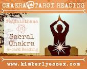 Second Chakra Tarot Reading | 4-Card Sacral Chakra Reading | Svadhisthana Reading (digital file: PDF - you print)