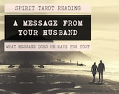 Spirit Tarot Reading | 4-Card Husband Reading | Mediumship | A message from your husband who has passed (digital file: PDF - you print)