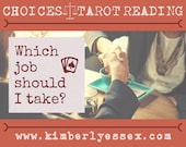 Which job should I take? Choices Tarot Reading (digital file: PDF, JPG - you print)