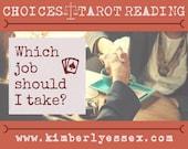 Which job should I take? Choices Tarot Reading (digital file: PDF, JPG - you print)