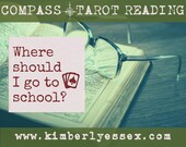Where should I go to school? Compass Tarot Reading (digital file: PDF, JPG - you print)