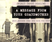 Spirit Tarot Reading | 4-Card Grandmother Reading | Mediumship | Message from your grandmother who's passed (digital file: PDF - you print)