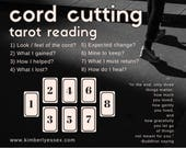 Cord Cutting 8-card Tarot Reading (customized digital file: PDF, JPG - you print)