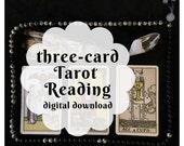 Three-Card Custom Tarot Reading (customized digital file: PDF, JPG - you print)