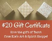 20 Dollar Gift Certificat...
