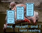 Me, Myself & I 3-card mind/body/spirit Tarot Reading (digital file: PDF, JPG - you print)