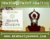 Fourth Chakra Tarot Reading | 4-Card Heart Chakra Reading | Anahata Reading (digital file: PDF - you print)