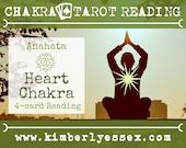 Fourth Chakra Tarot Reading | 4-Card Heart Chakra Reading | Anahata Reading (digital file: PDF - you print)