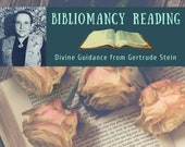 Gertrude Stein Bibliomancy Reading, Divine Guidance from Gertrude Stein (digital file: PDF - you print)