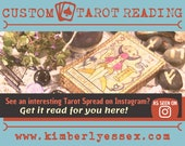 Custom Tarot Reading - Instagram Tarot Reading - As Seen on Instagram (digital file: PDF, JPG - you print)