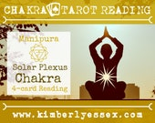 Third Chakra Tarot Reading | 4-Card Solar Plexus Chakra Reading | Manipura Reading (digital file: PDF - you print)