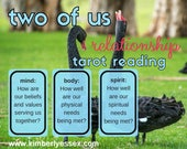 Two of Us 3-card Relationship (mind/body/spirit) Tarot Reading (digital file: PDF, JPG - you print)