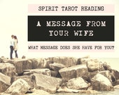 Spirit Tarot Reading | 4-Card Wife Reading | Mediumship | A message from your wife who has passed (digital file: PDF - you print)