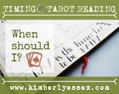 When should I? Timing Tarot Reading (digital file: PDF, JPG - you print)