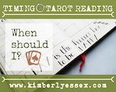 When should I? Timing Tarot Reading (digital file: PDF, JPG - you print)