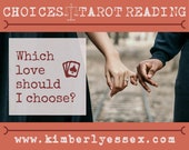 Which love should I choose? Choices Tarot Reading (digital file: PDF, JPG - you print)